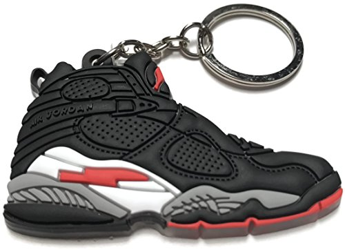 Jordan Red Air Collectable Shoe Keychain White Retro Black 8 QWCxBrdeo