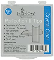 EZ Flow Perfection Ii Tips, Crystal Clear No.5, 50 Count