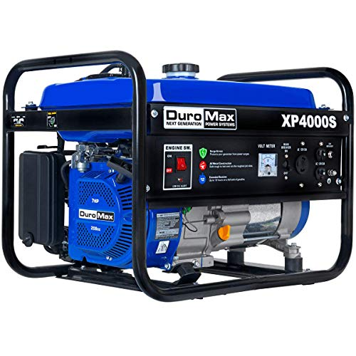 DuroMax XP4000S Gas Powered Portable Generator- 4000 Watt-Electric Start-Camping & RV Ready, 50 State Approved