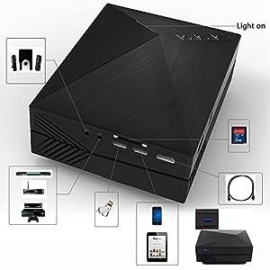 Foxpic GM60 Mini Projektor mit freiem HDMI Kabel Anschluss ...