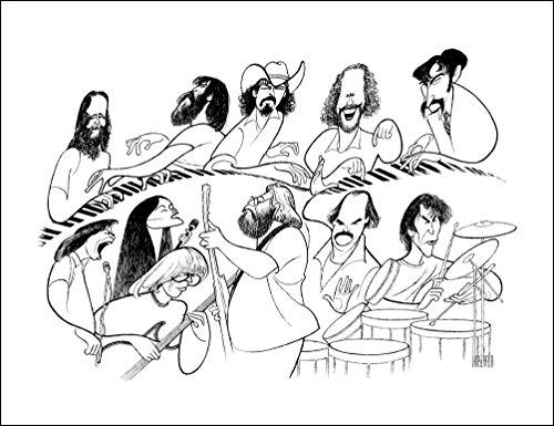"AL HIRSCHFELD'S THE GRATEFUL DEAD, Hand Signed by Al Hirschfeld, C of A, Ltd Ed, JERRY GARCIA, BOB WEIR, PHIL LESH, DONNA JEAN GODCHAUX, BILL KREUTZMAN, MICKEY HART, KEITH GODCHAUX, BRENT MYDLAND, RON ""PIGPEN"" MCKERNAN, VINCE WELNICK, and TOM CONSTANTEN"