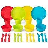 Best IkEA Kids Plates - Plastic Dinnerware Set By Plaskidy - Kids Dinnerware Review