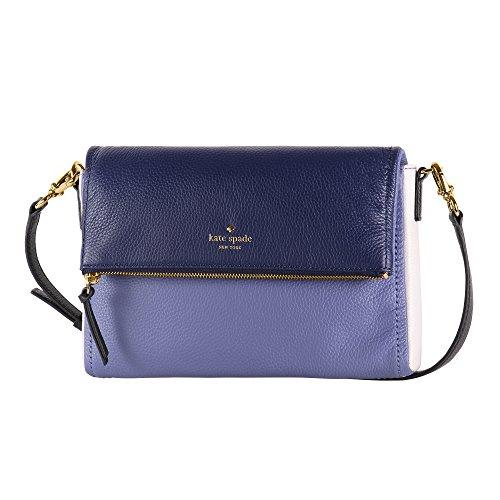 Kate Spade Cobble Hill Marsala Leather Shoulder Bag - Oyster Blue/Multi PXRU6222