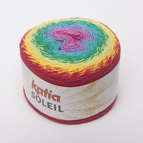 (Katia Soleil, Long Spectrum Cotton-Blend DK-Weight Yarn (Amber, Green,)