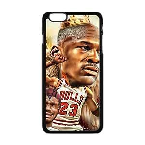 Happy Michael jordan caricature Phone Case for Iphone 6 Plus