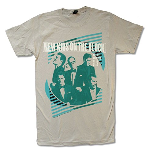 New Kids On The Block Green Lines Light Grey T Shirt (Small) (New Kids On The Block Reunion Tour)