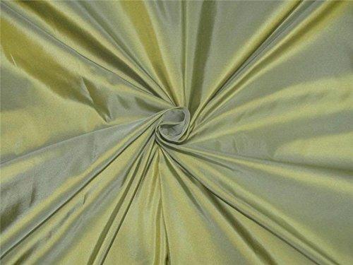 Pure Silk Taffeta Fabric Mintgreen x golden shot TAF#27[1]