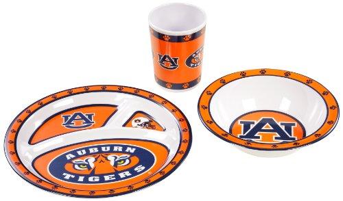 BSI NCAA Auburn Tigers Kid's 3-Piece Dish Set