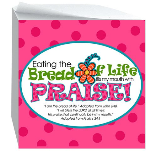 BREAD OF LIFE-Sticky Notecube (Design Christian T-shirts)