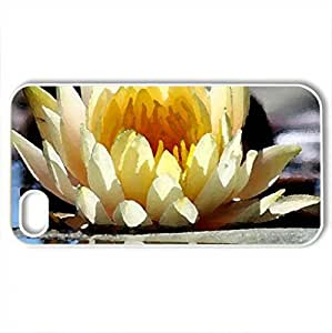 BEAUTY IN YELLOW - Case Cover for iPhone 4 and 4s (Flowers Series, Watercolor style, White)