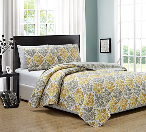 RT Designers Collection Mystique 3 Piece Reversible Quilt Set, Queen (Quilt Sets Designer)