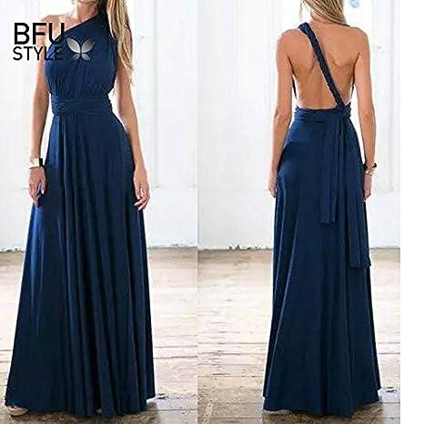 9b1d87c036 Amazon.com: Autumn Water Sexy Long Dress Bridesmaid Formal Multi Way ...