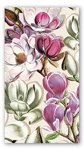 Michel Design Works 15-Count 3-Ply Paper Hostess Napkins, Magnolia