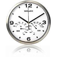 Gemlead A1001 Duvar Saati Termometre Nem Ölçer, Siyah