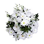 Admired-By-Nature-40-Stems-Artificial-Rose-Lily-Zinnia-Queen-Annes-Lace-Mixed-Flower-Bush-with-Greenery-for-Home-Wedding-Restaurant-office-Decoration-Arrangement-White