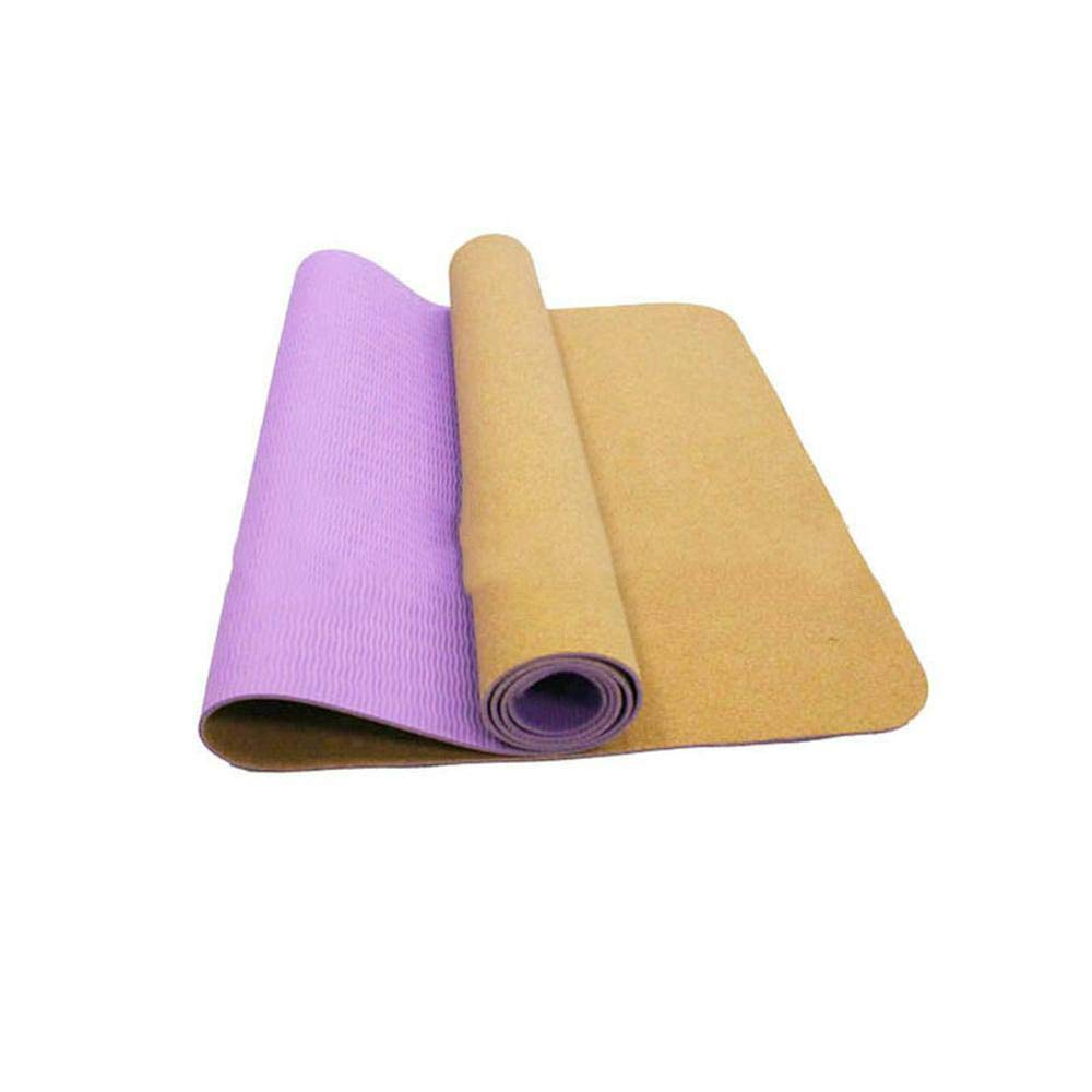 Sweety Sport-Yoga-Matte Natürliche Kork Umwelt Sport Yoga Gummimatte 183  61  0.3 cm 2er Set