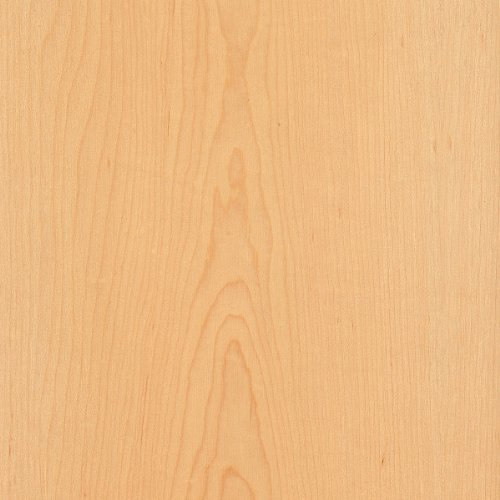 Maple Wood Veneer Plain Sliced 2x8 PSA 9505 Natural Finish Sheet by Wood-All