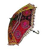 7 Pcs Lot Indian Cotton Fabric Mirror Work Vintage
