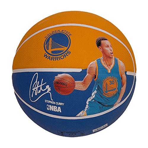 fan products of Spalding 83343 Stephen Curry Basketball, Gold/Blue