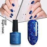 #8: Soak-off LED Gel Nail Polish Sparkle Blue 8ml Chip Resistant Long-lasting 237
