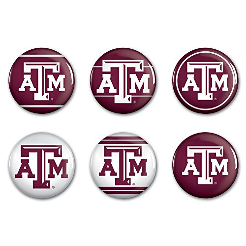 - WinCraft NCAA Texas A&M University WCR90420012 Round Button (6 Pack), 2