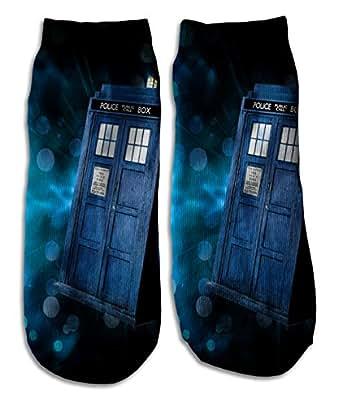 Custom Ankle Socks customized sport - tardis 4 Dr Who Call booth