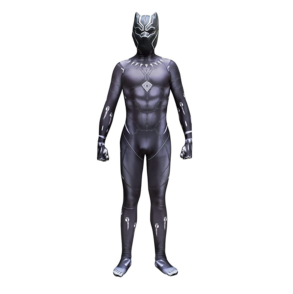 Black Panther Zentai Deluxe Jumpsuit Cosplay Costume+Mask
