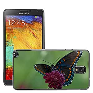 Hot Style Cell Phone PC Hard Case Cover // M00047464 wings spots black orange blue flower // Samsung Galaxy NOTE 3