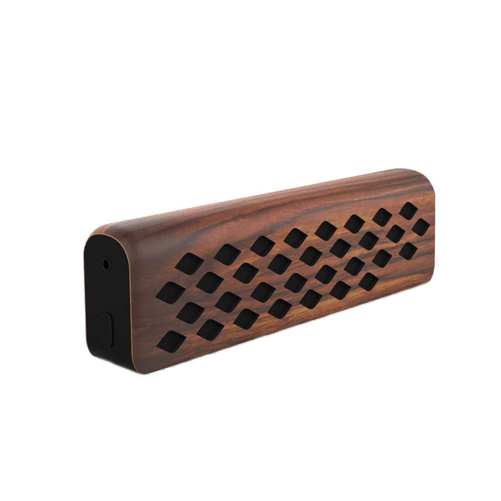 YYHSND Retro Household Wooden Mini Subwoofer Portable Wireless Bluetooth Small Speaker, 21×3.8×6.4cm Speaker