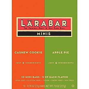 Larabar Minis Gluten Free Bar Variety Pack Cashew Cookieapple Pie 78 Oz Bars 10 Count by General Mills