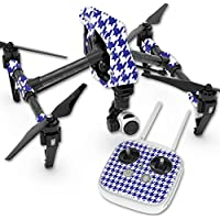 Skin For DJI Inspire 1 Quadcopter Drone – Blue Houndstooth | MightySkins Protective, Durable, and Unique Vinyl Decal wrap cover | Easy To Apply, Remove, and Change Styles | Made in the USA