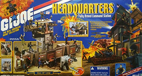 G.I. Joe The Real American Hero Collection: Headquarters (Fully Armed Command Station) with Rock 'n' Roll Action Figure