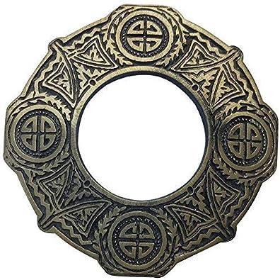 Falda Escocesa Broche Tela Escocesa Nudo Celta Antiguo Acabado en ...