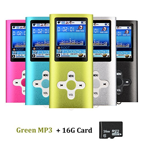 VicTal MP3 MP4 Player with 16GB Micro SD Card -  Green