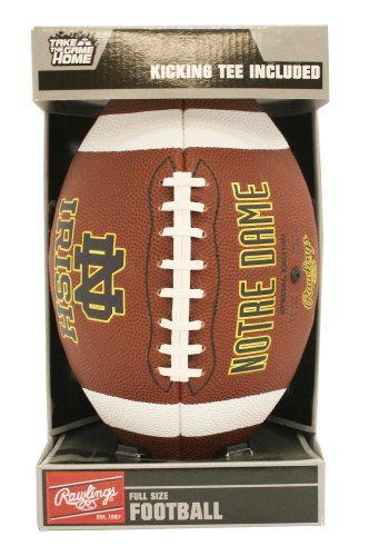Notre Dame University Football - NCAA Notre Dame Game Time Full Size Football