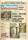 PARISIEN (LE) [No 13853] du 24/03/1989 - ECOLE / UN PLAN D'URGENCE POUR SAUVER LA LECTURE - JOHN ET SPIROU AU ZOO DE VINCENNES - MANCHE / LE CONTENEUR MORTEL RESTE INTROUVABLE - SPORTS / LA F1 ET PROST