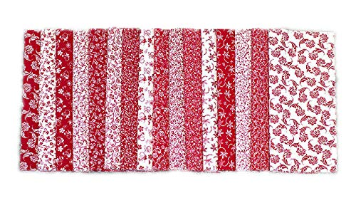 102 Red & White pre Cut Charm Pack 5