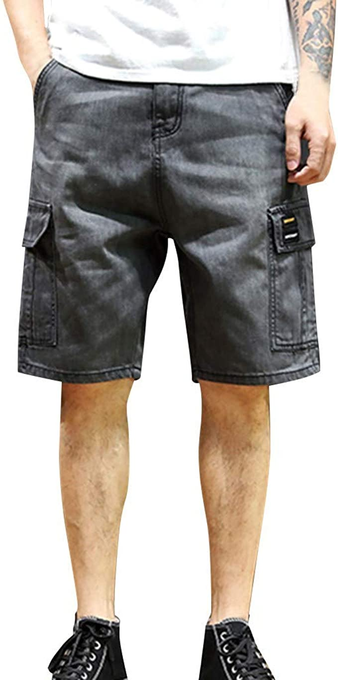 Clearance Forthery Mens Cargo Shorts Classic-Fit Lightweight with Pockets