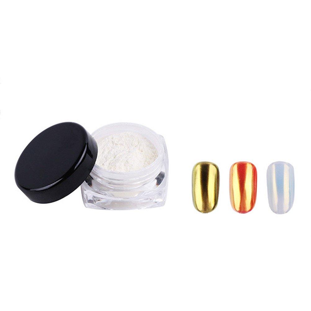 Frcolor Chrome Miroir Poudre à ongles avec brillant lisse Effet brillant brillant Pigment pour Nail Art DIY Manucure 1