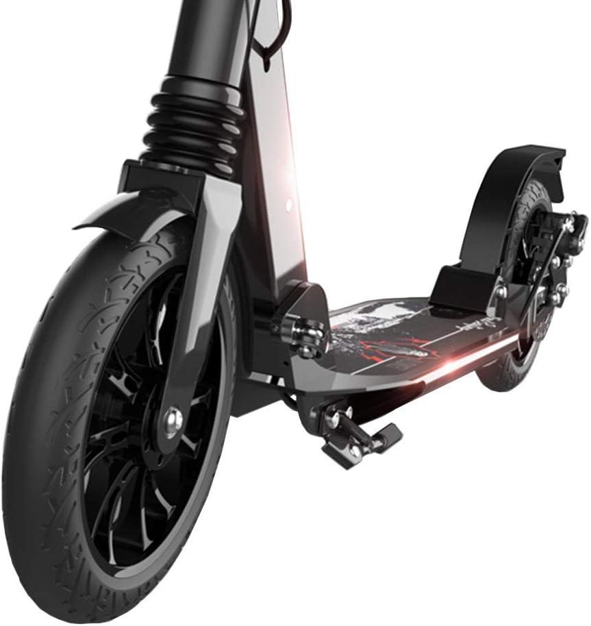大人用 キックボード 大きい車輪、ディスクブレーキ、二重懸濁液、調節可能な軽量の通勤スクーター、100kgまでの大人のスクーター