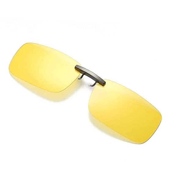Winwintom Visión nocturna desmontable Lens Manejando metal polarizado clip gafas - gafas de sol (Amarillo