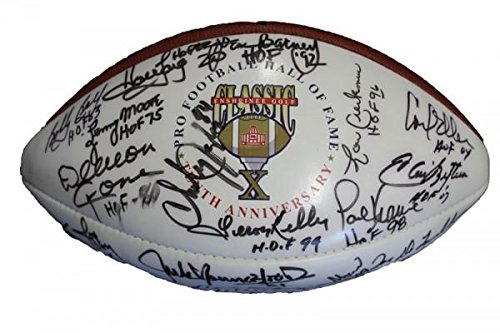 Pro Football Hall of Fame Enshrinee Golf Classic X Autographed Football Autographed Footballs