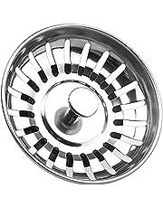 Aanrecht Zeef Plug RVS Spoelbak Afvoer Plug Sink Zeef en Stopper Sink Zeef Mand Gat Diameter 78mm Zeef Afval Plug