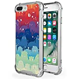 "iPhone 7 Plus Case - MoKo Advanced Ultra Thin Flexible TPU Bumper Gel Shock Absorption Anti-scratch Hard Protective Back Cover with Cool Pattern for Apple iPhone 7 Plus 5.5"" (2016), Totoro"