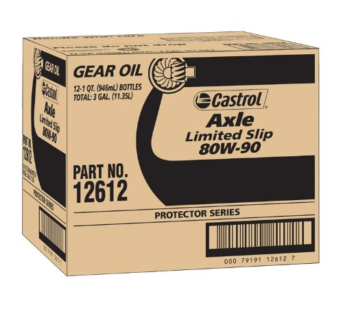 Castrol 12612-12PK Axle Limited Slip 80W-90 Gear Oil - 1 Quart, (Pack of 12) by Castrol