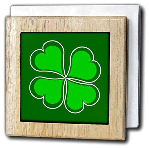 Janna Salak Designs St Patricks Day – ラッキーグリーンシャムロック – タイルナプキンホルダー 6 inch tile napkin holder nh_77561_1 6 inch tile napkin holder  B00A8Y8RUI