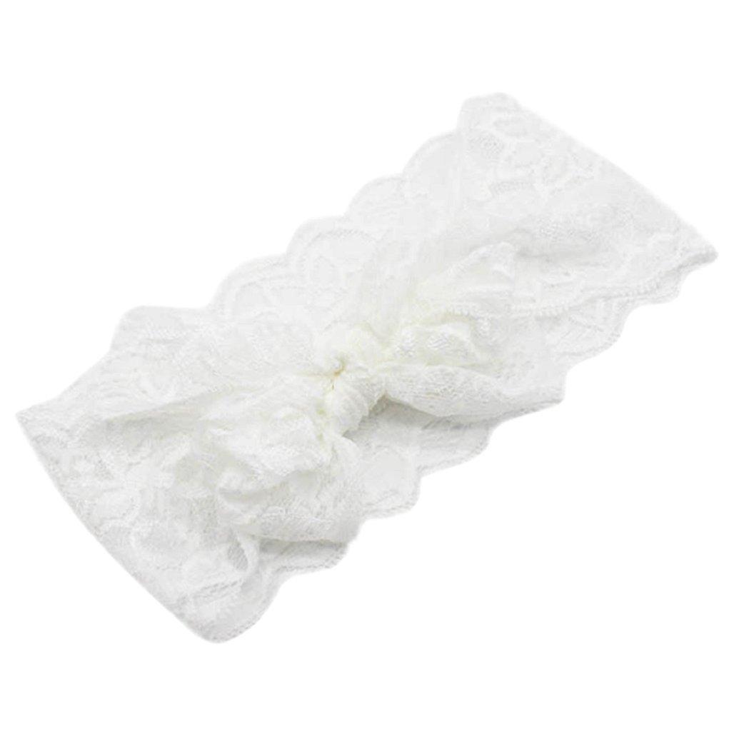 Fliyeong Premium-Qualit/ät u0026 reg; Baby M/ädchen Kinder Bowknot Lace Stirnband geknotet Haarband Headwrap