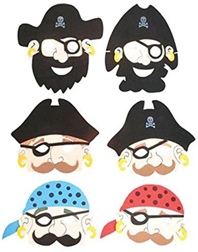 Rhode Island Novelty Foam Pirate Masks, 12-Pack -