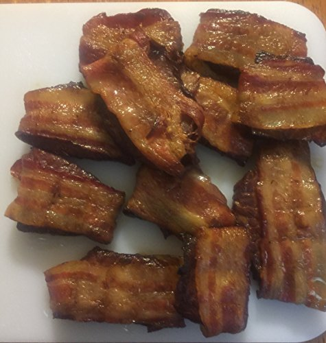 Price comparison product image Beef Jerky wrapped in thick cut bacon,  handcut and slow smoked 8 ounce 10 Delicious Flavors Made to order