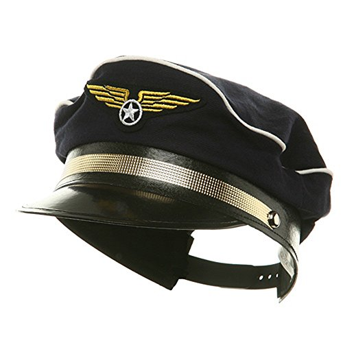 [Pilot Hat Costume Accessory] (Black Pilot Hat Costume)